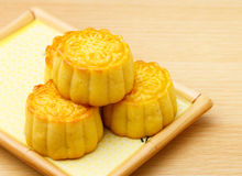 Chinese traditional mooncake Stock Photography