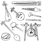Chinese traditional musical instruments Stock Images