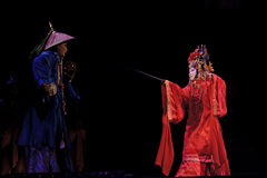 Chinese traditional opera actor with theatrical costume Stock Images