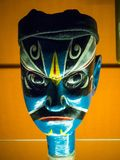 Chinese traditional opera man blue mask head royalty free stock photo