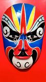 Chinese Traditional Opera Mask on red background Stock Image