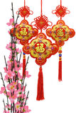 Chinese traditional ornaments and plum blossom Stock Image