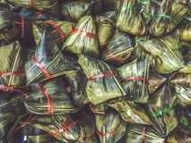 Chinese traditional package food dumplings food zongzi royalty free stock images