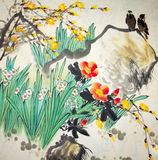 Chinese traditional painting stock image