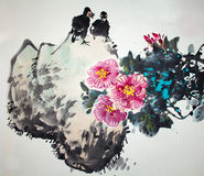 Chinese traditional painting royalty free stock images