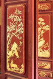 Chinese traditional painting on door Stock Photo