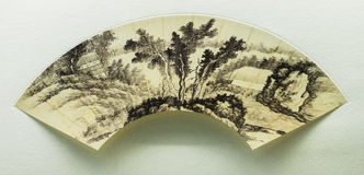 Chinese traditional painting fan Stock Photo
