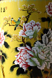 Chinese traditional paintings. On a porcelain vase,peonies in full bloom,auspicious birds of magpies Royalty Free Stock Image