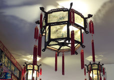 Chinese traditional palace lantern. Beautiful chinese traditional palace lanterns Royalty Free Stock Photo