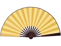 Chinese traditional paper fan Stock Image