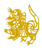 Chinese traditional papercutting. Eastphoto, tukuchina, Chinese traditional papercutting, Chinese Zodiac, Dog Royalty Free Stock Photography