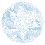 Chinese Traditional Pattern(Dragon) Stock Image