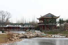 Chinese traditional pavilion Royalty Free Stock Photo
