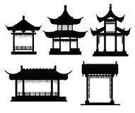 Chinese traditional pavilions Stock Photography
