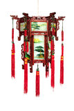 Chinese traditional pentagon lantern. In wood frames and painting on ground glass (manual focus Royalty Free Stock Photos