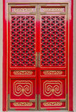 Chinese traditional red and gold door pattern style Royalty Free Stock Photo