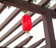 A Chinese Traditional Red Lantern stock images