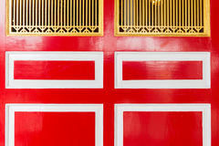 Chinese traditional red white and gold door Royalty Free Stock Photo