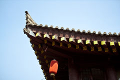 Chinese traditional roof. Blue sky cloudless Royalty Free Stock Photography