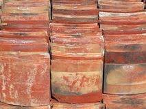 Chinese Traditional Roof Tiles Stock Images