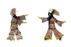 Chinese traditional shadow play Royalty Free Stock Photo