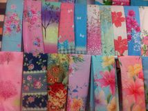 Chinese traditional silk scarfs Royalty Free Stock Photography