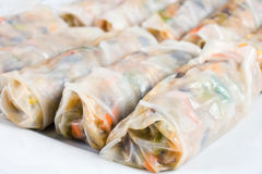 Chinese Traditional Spring rolls Stock Photography