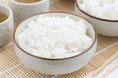Chinese traditional steam white rice Stock Photos