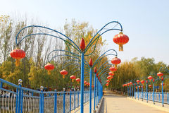 Chinese traditional style red lanterns Stock Images