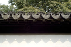 A Chinese traditional style roof. In a park Stock Images