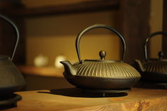The chinese traditional teapot. On the table Royalty Free Stock Photography