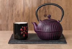Chinese traditional teapot and cup Stock Photo