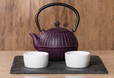 Chinese traditional teapot and cup Royalty Free Stock Images