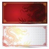 Chinese dragon template Royalty Free Stock Photography
