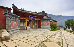 Chinese traditional temple building Stock Photography