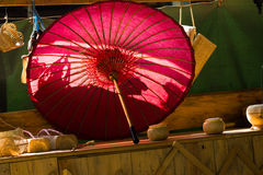 Chinese traditional umbrella Royalty Free Stock Images