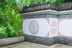 Chinese traditional wall and eave. Chinese southern building,wall and eave with  traditional  pattern in a Royalty Free Stock Photo