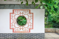 Chinese traditional wall. Chinese southern building,wall with  traditional  pattern in a Royalty Free Stock Photos