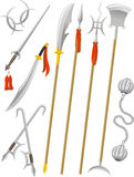 Chinese traditional weapons illustrations Royalty Free Stock Photo