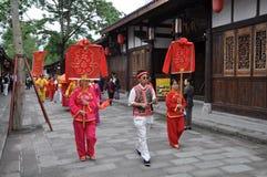 Chinese traditional wedding celebration Royalty Free Stock Photography