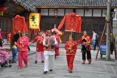Chinese traditional wedding celebration Stock Images