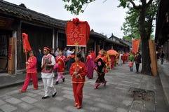 Chinese traditional wedding celebration Royalty Free Stock Image