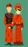 Chinese traditional wedding dresses Stock Image