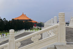 Chinese traditional white marble railings in zhongzheng ( chiang kai-shek ) memorial park Stock Photos