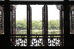 The Chinese traditional window and door Stock Photos
