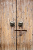 Chinese traditional wood door Royalty Free Stock Photography