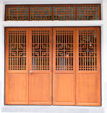 Chinese traditional wood door Royalty Free Stock Photos