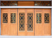 Chinese traditional wood door Stock Photography