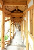 Chinese traditional wooden corridor Royalty Free Stock Images