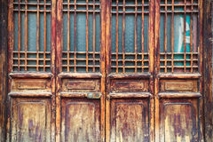 Chinese traditional wooden door Stock Images